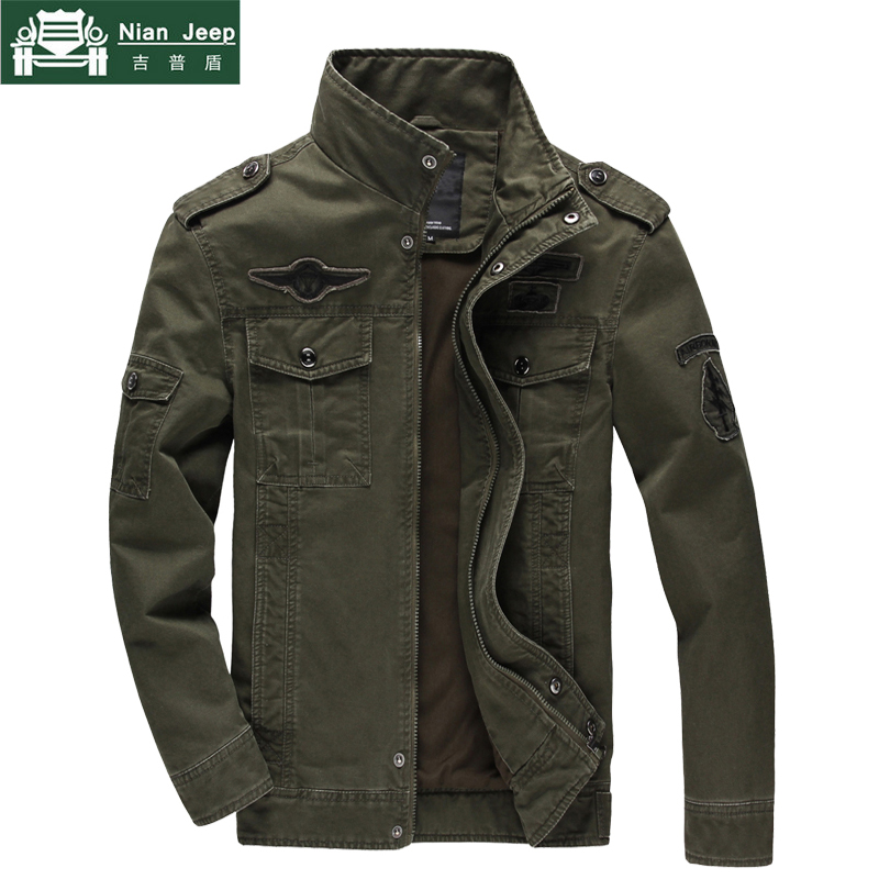 Casual Military Jacket Men Spring Autumn Army Solid Cotton Mens Jackets Tactical Multi-pockets Coats Male chaquetas hombre M-6XL