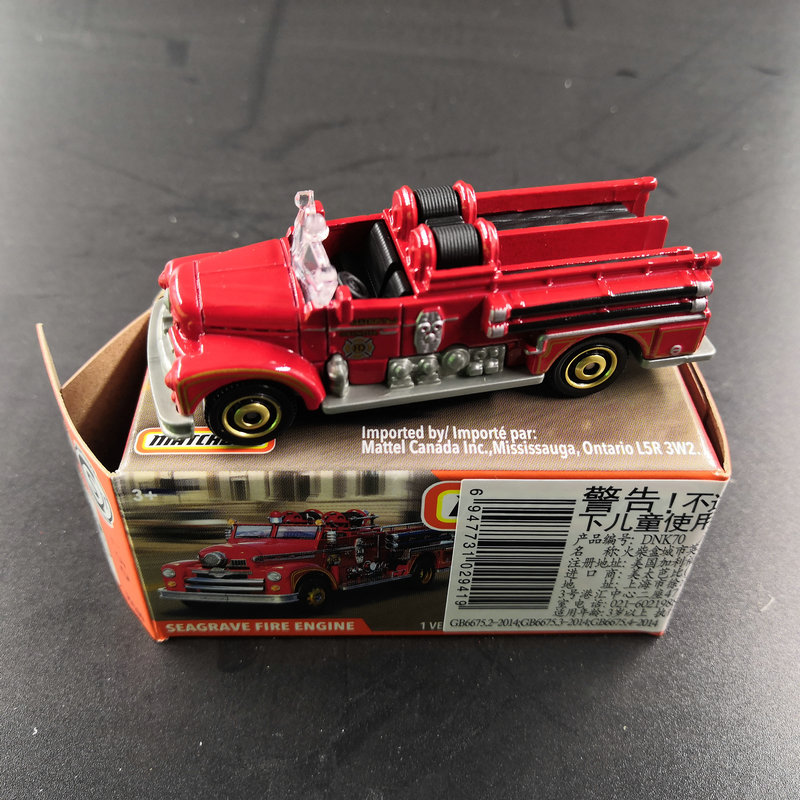2019 Matchbox Car 1:64 Sports Car SEAGRAVE FIRE ENGINE Metal Material Body Race Car Collection Alloy Car Gift