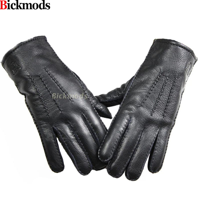 Guantes Winter Gloves Leather Gloves Men All Handmade Deerskin Lining Stripes Style Soft Delicate Price Concessions Direct-in Men's Gloves from Apparel Accessories on AliExpress