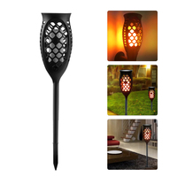 Solar Light Path Torches Dancing Flame Lighting 96 LED Dusk To Dawn Flickering Lamp Torches Outdoor