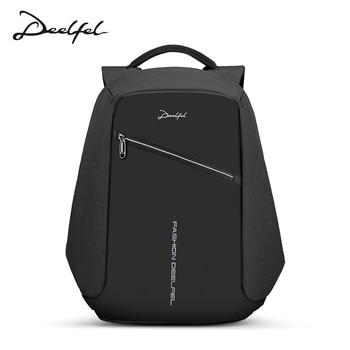 DEELFEL USB Lade Männer 15 zoll Laptop Rucksäcke Für Teenager Mode Männlichen Mochilas Hombre Freizeit Reiserucksack Anti Dieb