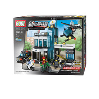 Fun Children S Building Blocks Toy Compatible Lego SWAT Helicopter Model Children S Intelligence Education Building