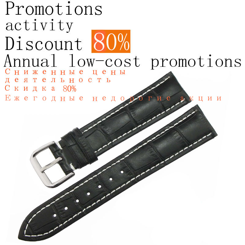 ZLIMSN Genuine Leather Watch band for Tissot Rolex Omega Watch Strap 20-26mm Watchband Reduced prices activities Discount of 60%