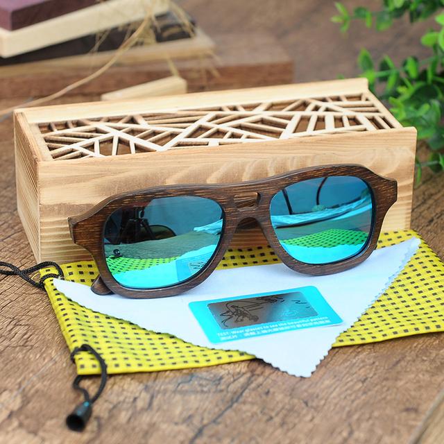 BOBO BIRD Wooden Handmade UV400 Polarized Men Sunglasses
