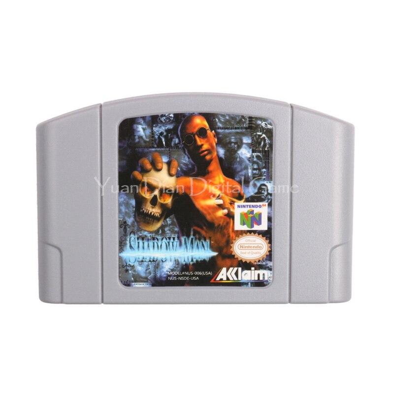 Cartucho de juego de nintendo n64 video consola tarjeta hombre sombra versión en