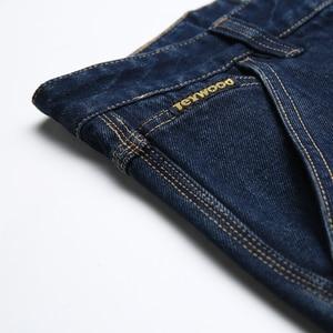 Image 4 - Kış sonbahar yüksek bel kalın pamuklu kumaş kot erkekler rahat klasik düz kot erkek kot çok cep pantolon tulum