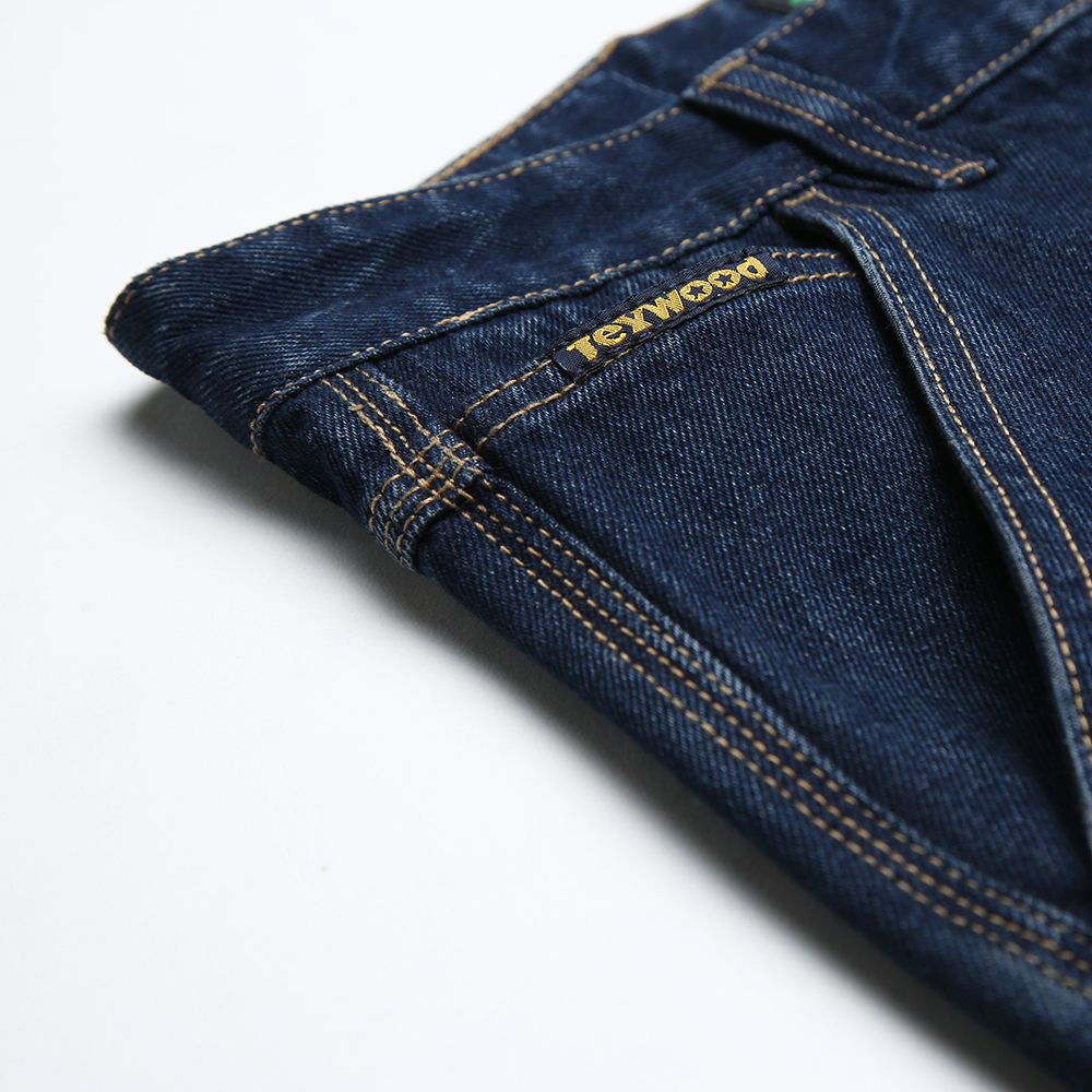 Image 4 - Winter Autumn High Waist Thick Cotton Fabric Jeans Men Casual Classic Straight Jeans Male Denim Multi Pocket Pants Overalls-in Jeans from Men's Clothing