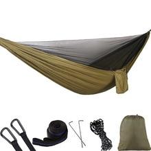 Hamaca de red ultraligera para patio trasero, accesorio para senderismo, viajes, Camping