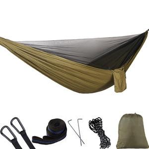 Image 1 - Ultralight Bug สุทธิเปลญวนเต็นท์ยุงกลางแจ้ง Backyard เดินป่า Backpacking Camping Double Hamac Rede Hamaca Hangmat