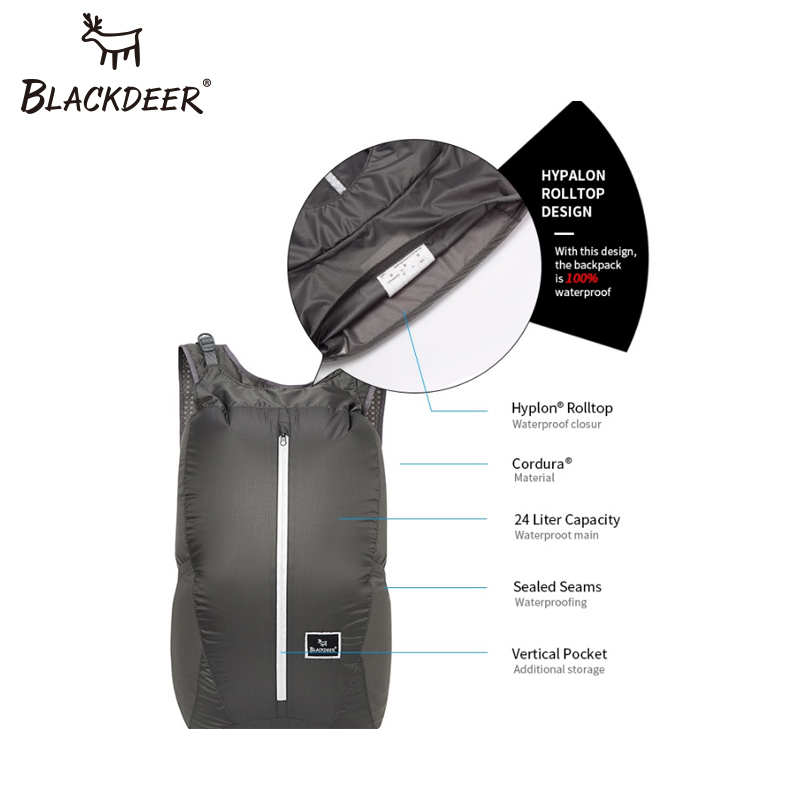 BLACKDEER Camping Backpack Waterproof 30D Cordura Men Women Sport Bags 24L  Ultralight Folding Handy Durable Travel Hiking Bag-in Climbing Bags from  Sports ... 5453118ce5e2a
