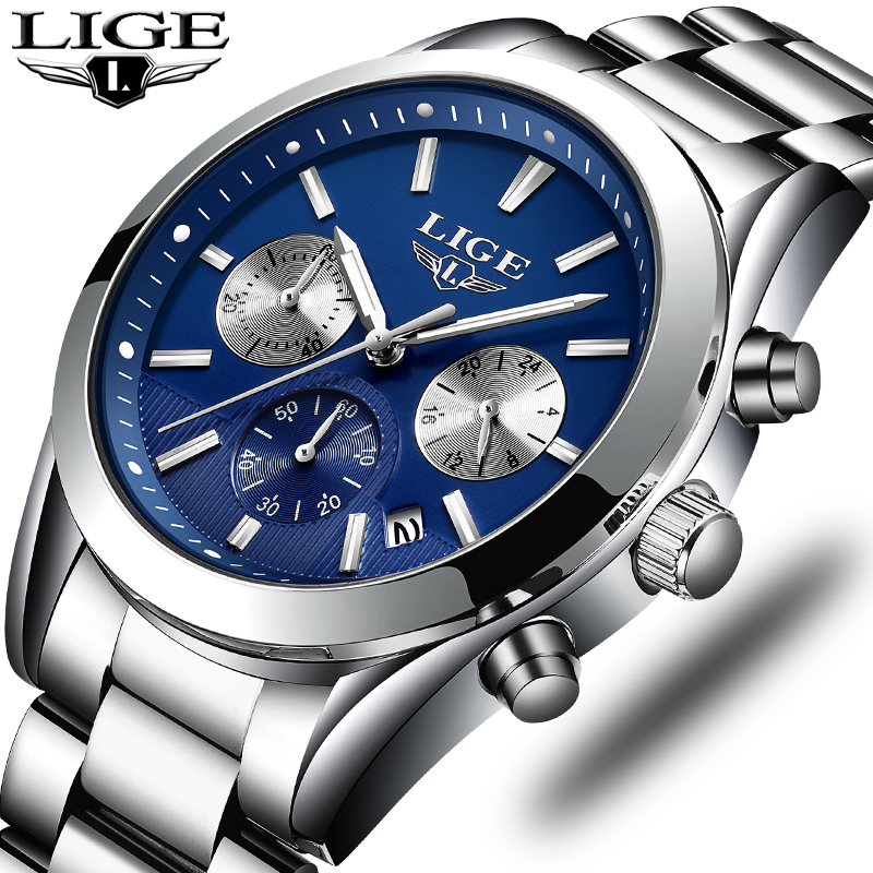 NEW Top Men Watches Luxury Brand LIGE Men's Quartz Hour Analog LED Sports Watch Men Army Military Wrist Watch Relogio Masculino стоимость