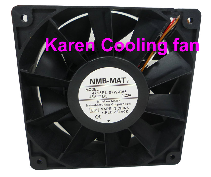 New Original NMB 12CM 4715RL-07W-B86 12038 48V 1.2A Cooling Fan ; 12038 24v 0.65a new original nmb 4715sl 05w b60 dc24v 1 2a 12038 inverter waterproof cooling fan