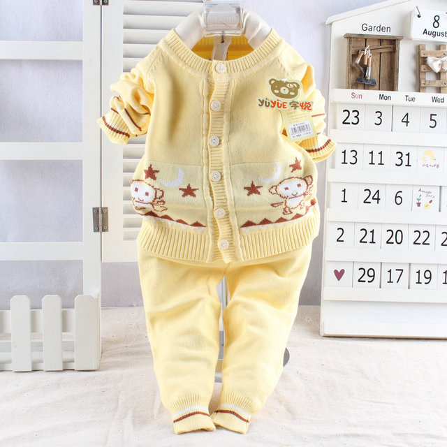 2016 New Infant Sweater Cotton Baby Sweater Suit Baby Clothing Newborn Baby Clothes Set 0-12m Baby Boys/girls Sweater