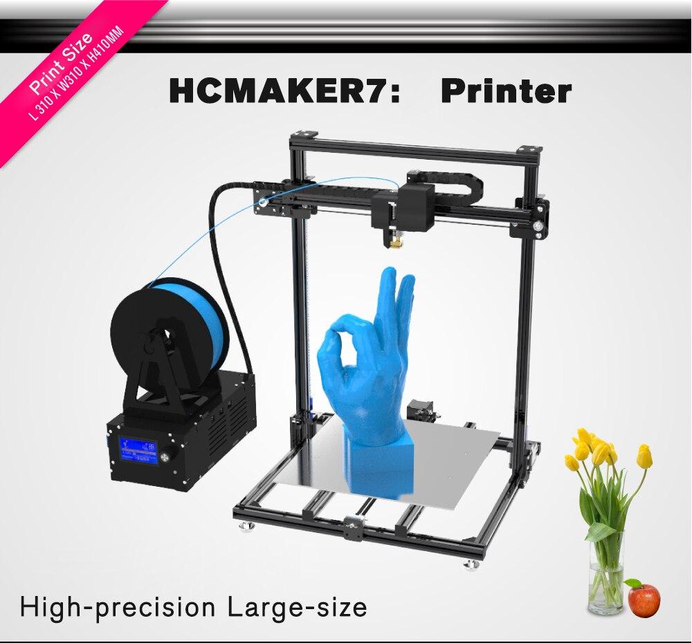 3d принтер большой размер HCMaker шкив версия линейный низкий уровень шума Высокоточный 3d принтер DIY Высокое качество принтер 3d