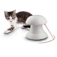 ABS di Plastica 360 Gradi Automatico Interattivo Dardo Laser Luce Teaser Fun Esercizio Gatto Giocattolo Per Pet Dog Cat Divertente
