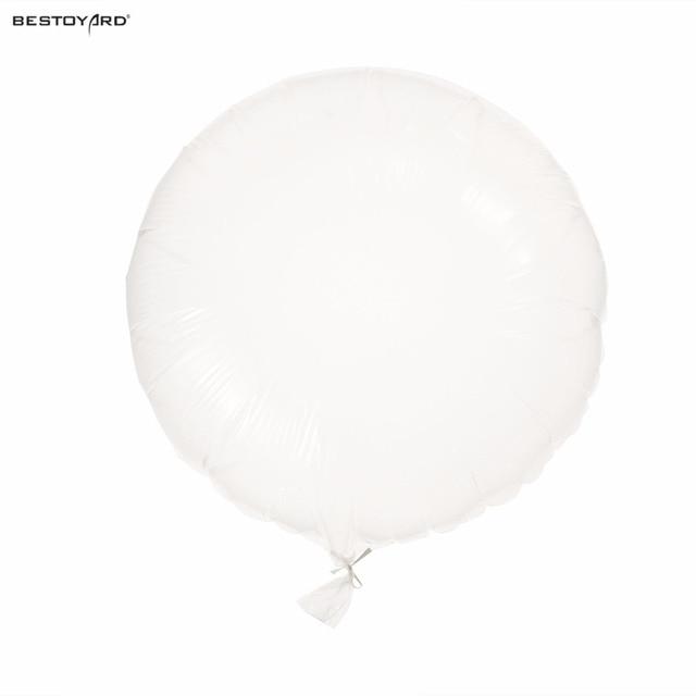 24 Inch DIY Confetti Balloons Party Clear Transparent Mylar Foil For Birthday Wedding Graduation