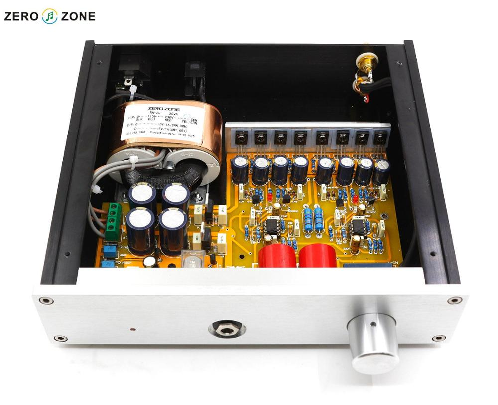 GZLOZONE DIY Kit HD-8-A1-PRO Headphone Amplifier Amp box + Headphone Amp kit + Transformer gzlozone one pair clone naim nap140 amplifier kit diy amp kit 2 channel