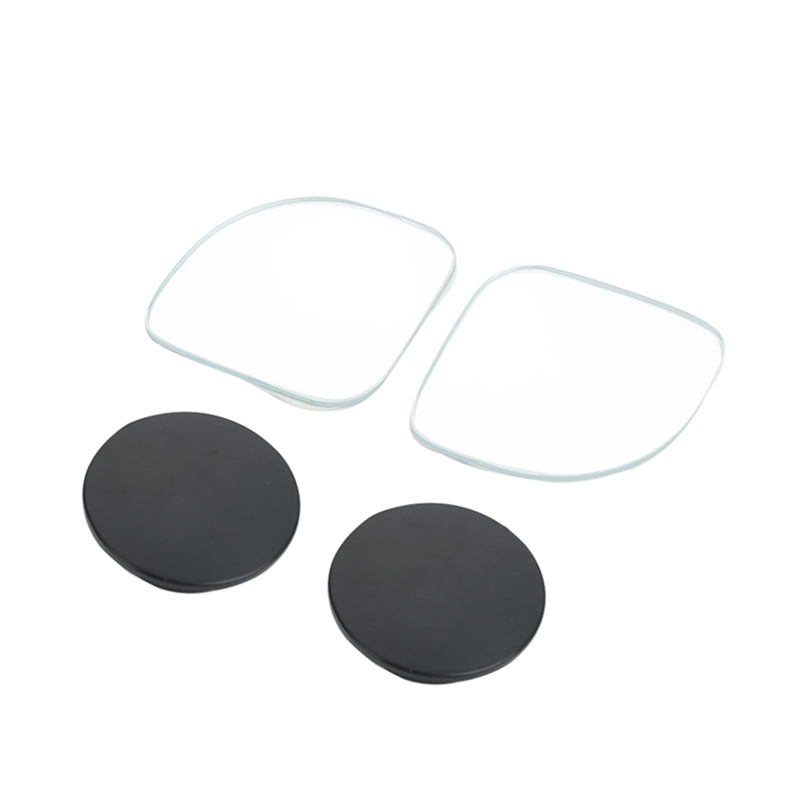 2 Pcs Car Wide Angle Rear View Mirror 360 Degree Rotation Auto Rearview Auxiliary Parking HD Frameless Blind Spot Mirrors