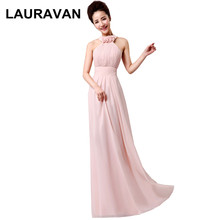 women light pink dress elegant robe de soiree long female bridesmaid gowns  dresses real images new 9efb1485c254