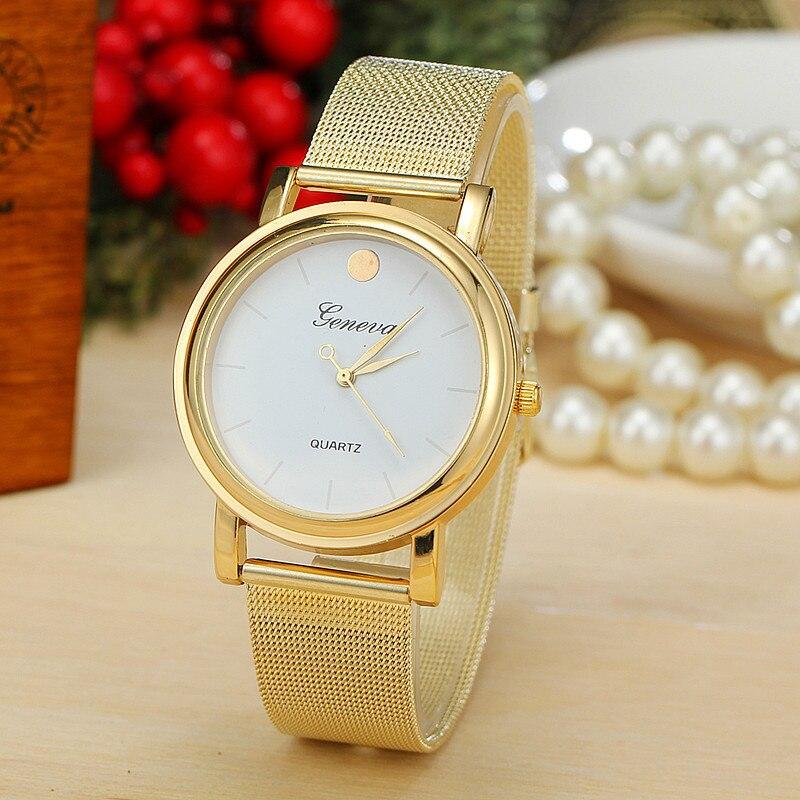 2016 Heißer Verkauf Luxus Marke Uhr Frauen Mode Gold-es Quarz Uhr Damen Dame Stunde Montre