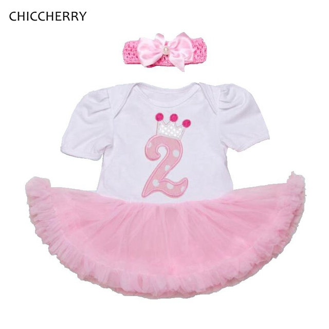 499e951133aa Crown Princess Toddler Girl 2 Years Birthday Dress Baby Lace Tutu Set Headband  Party Outfits Vestido