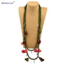 Новое богемное ожерелье из бисера в стиле бохо Разноцветные