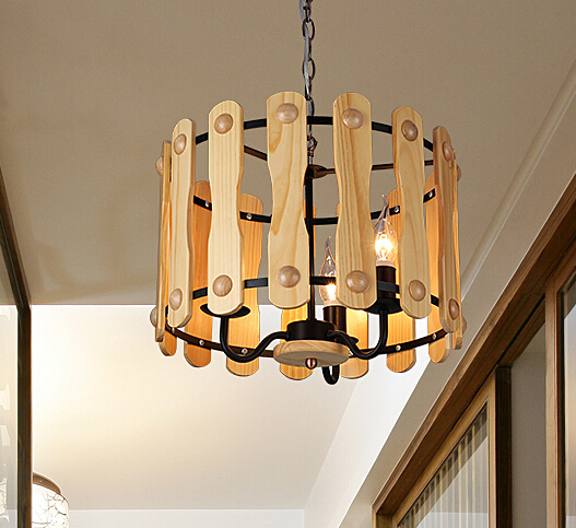 Creative Individual American Country Wooden Pendant Lamp Restaurant Study Bedroom Decoration Pendant Light Free Shipping nordic study restaurant bar american country art creative atmosphere table spark ball star pendant lamp lo8413