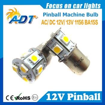 100PCS Non Flickering Blue 13V AC Ba15s 1156 #89 Flash pinball led light