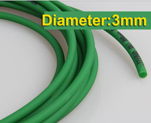 Diameter:3mm Round Green Rough Surface  PU Industrial belt conveyor --freeshipping