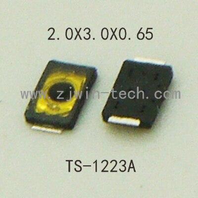 10 шт. ультра малого ультра низкий профиль телефонной кнопки сбоку PUSH переключатель Light Touch Button2X3X0.65mm supertiny SMD TS-1223A ...