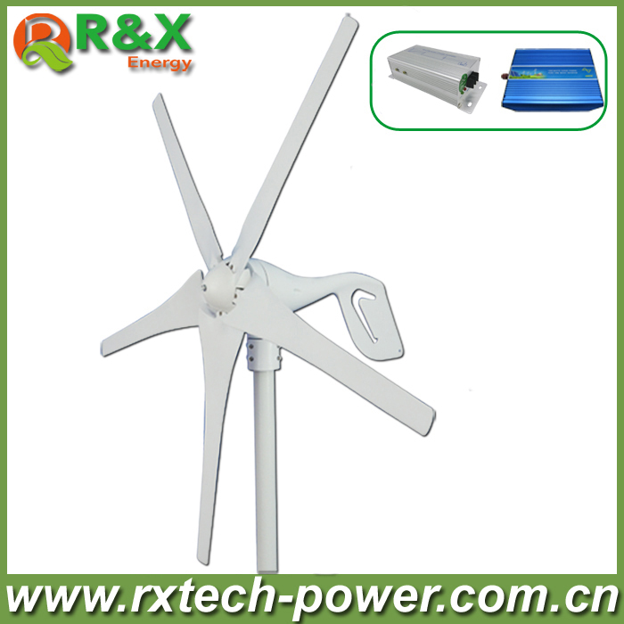 Wind power generator 400W  for land and marine, 12V/24V  wind turbine+wind controller+600W off grid pure sine wave inverter.