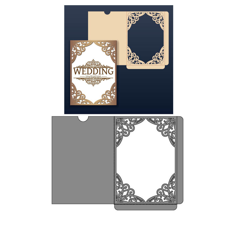 Lacework Frame Invitation Dies Metal Cutting Dies for Scrapbooking DIY