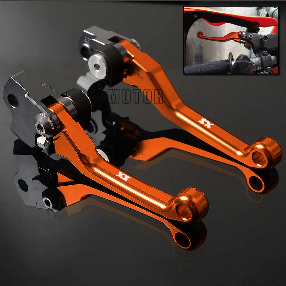 motorcycle dirt bike brake clutch levers for ktm 65sx 85sx 250sx 450sx 525sx motocross cnc handle [ 1000 x 1000 Pixel ]