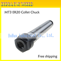 Free shipping New Precision MT3 ER20 M12 collet chuck Morse taper Toolholder MT3 ER20 collet chuck Holder