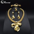 High quality women Necklace Bangle Earring Ring Fine African jewelry sets Beads gold plating Dubai Plated Fashion Wedding