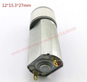 Acero y cobre 050 alta calidad 6 v metal Micro DC motor cambio velocidad engranaje y engranaje de reducción motor para el bricolaje modelo de robot