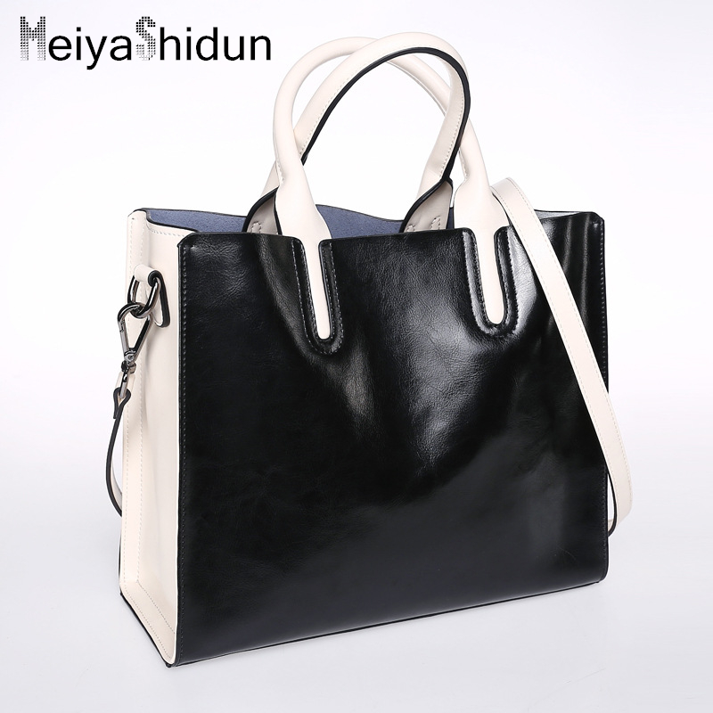 Genuine leather women bag brands handbags women messenger bags Luxury Bolsos Mujer designer Trunk tote Ladies shoulder bag Borse 4sets herringbone women leather messenger composite bags ladies designer handbag famous brands fashion bag for women bolsos cp03