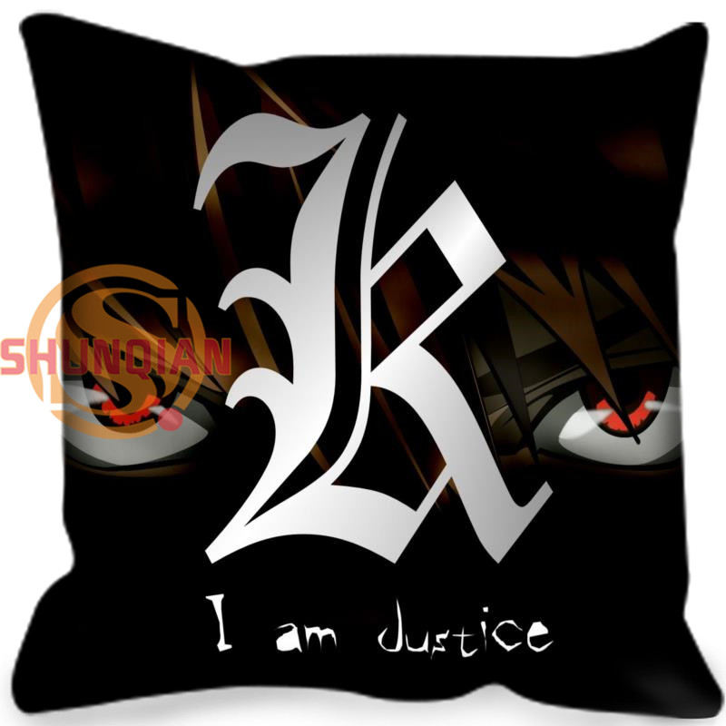 Best Nice Death Note Style Throw Pillowcase Square Zippered Pillow Cover Custom Gift 40x40cm Drop Shipping