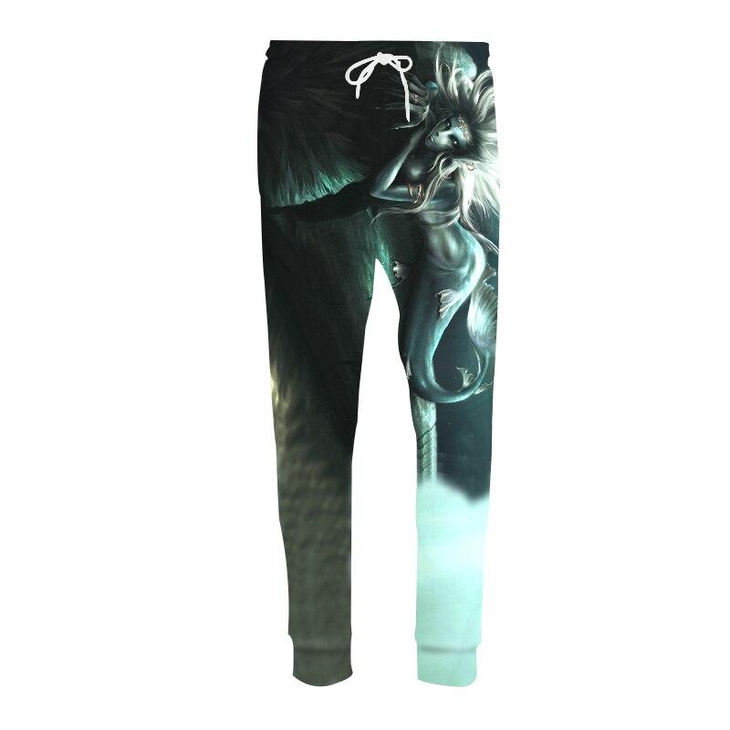 Casual Harem Pants Men Joggers Trousers Harajuku Sexy Mermaid Drift Bottle 3D Print Sweat Pantalon Hip Hop Fitness Sweatpants