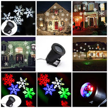 Halloween Christmas Lighting 6W garden led light waterproof outdoor lighting show projector Snowflake light Outdoor Decoration