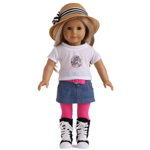 2015 new arrival fashion 18 inch american girl doll clothes of demin clothes
