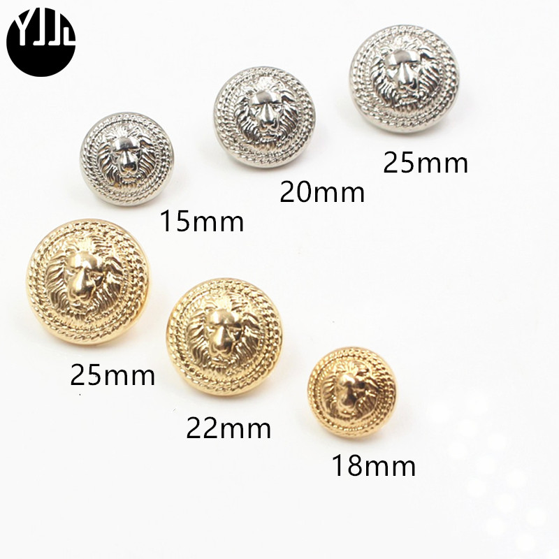 Uniform Jade White Sport Coat Suits 3d Lion Head For Blazer Hard-Working 10pcs 15-25mm Gold And Silver Vintage Antique Metal Blazer Button Set