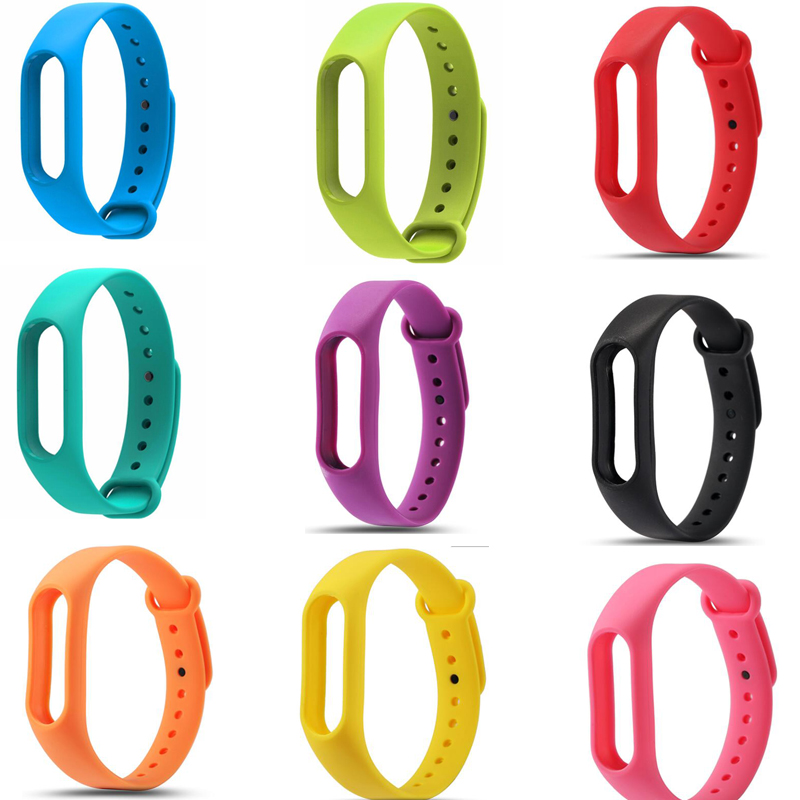 2018 New Replacement Silicon Strap For Xiaomi Mi Band 3 2 Wristbands For MiBand 3 2