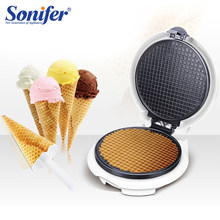 Electric Egg Roll Maker Renyah Dadar Cetakan Crepe Baking Pan Pancake Bakeware Diy Ice Cream Cone Mesin Pie Penggorengan Grill sonifer(China)