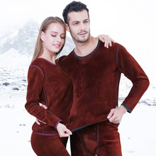 Underwear Men Winter Women Long Johns Sets Fleece Keep Warm