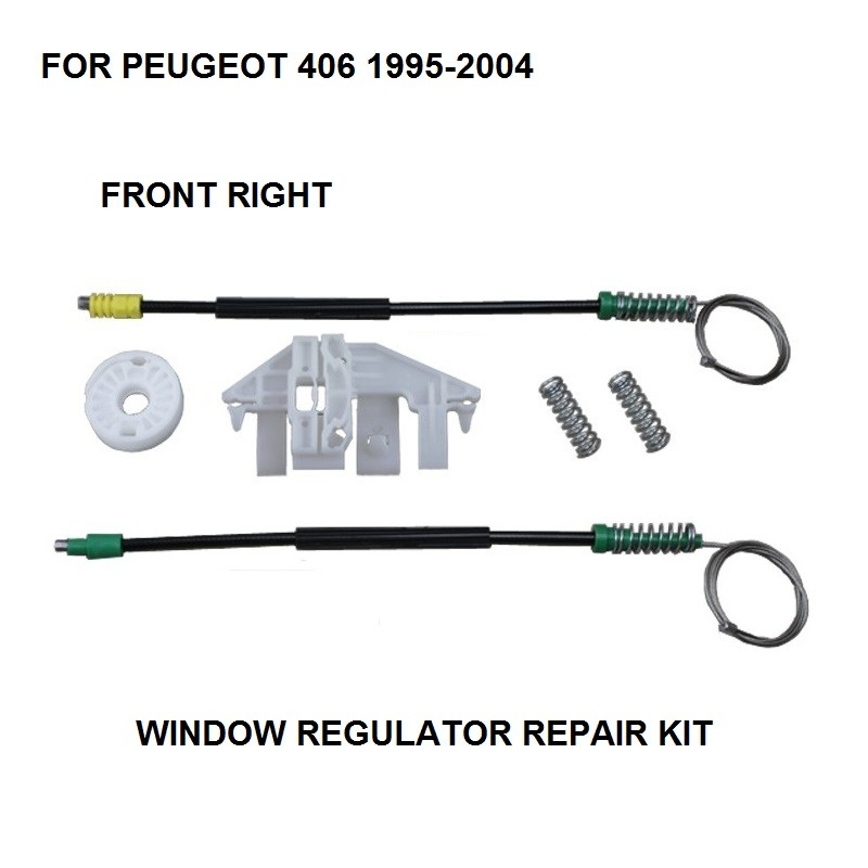 CAR ELECTRIC WINDOW CLIPS FOR PEUGEOT 406 WINDOW REGULATOR REPAIR KIT FRONT-RIGHT 1995-2004