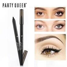 Party Queen Smudge proof Gel Eyeliner Pencil Long lasting Waterproof Kohl Eye Pencil Makeup Smooth Shocking