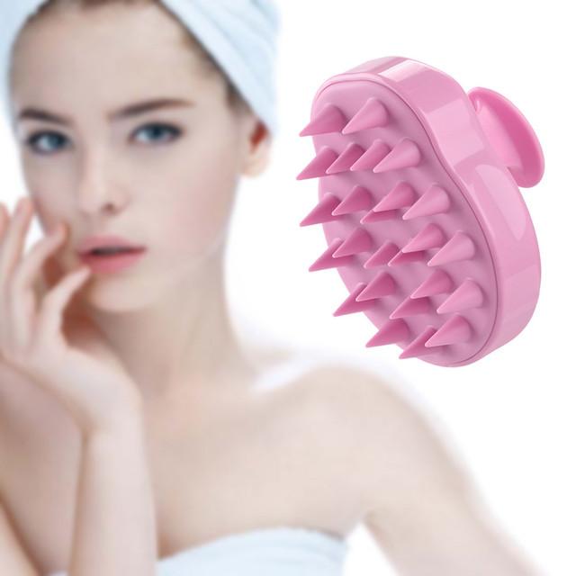 Hair Scalp Silicone Shampoo Brush