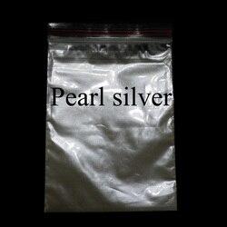 Revestimiento de pintura de cerámica en Polvo de pigmento de perla gris plateado para colorear artesanías para cuero nunca se decolora 50 gramos