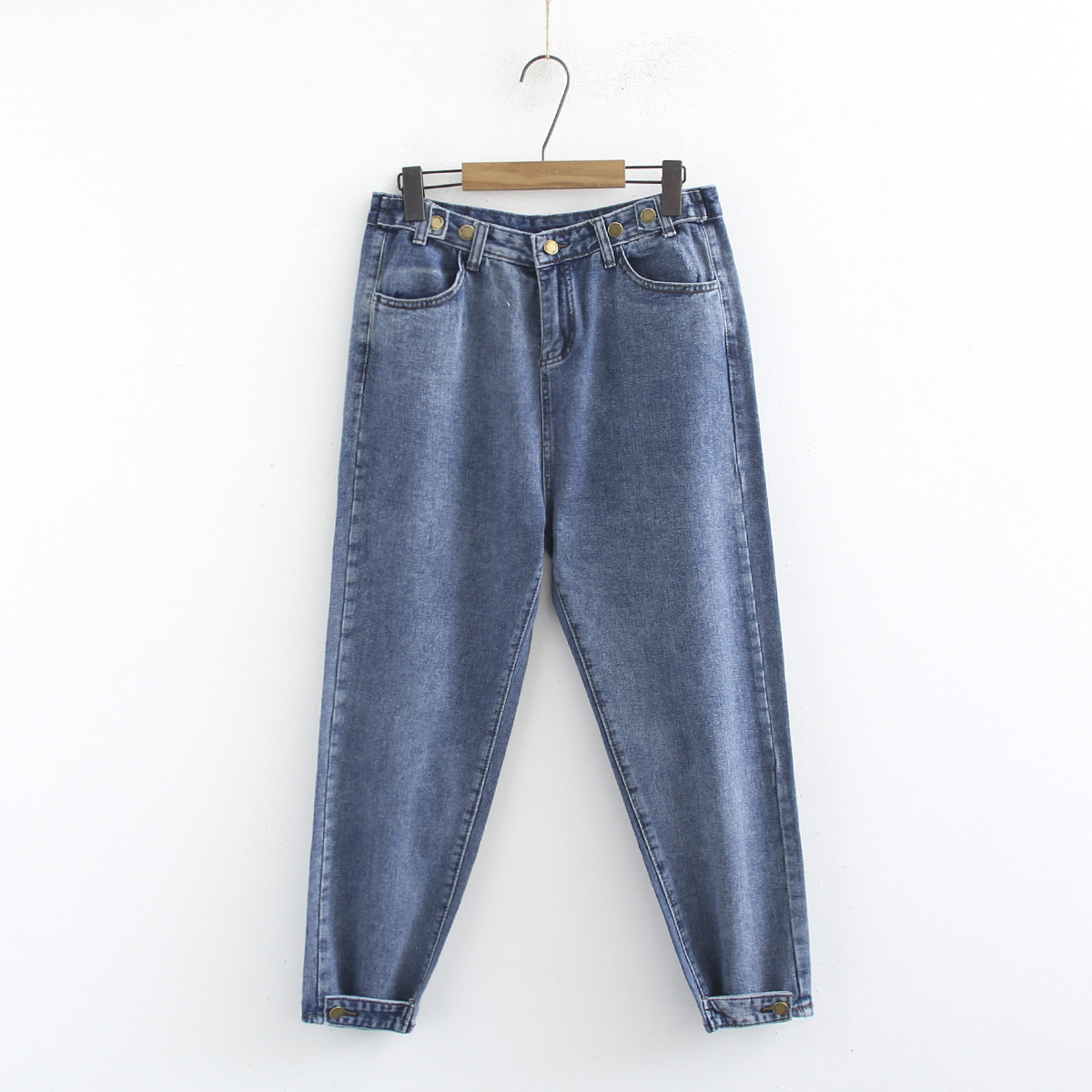 Winter Casual Loose Denim Blue Jeans for Girls Vintage Ladies Wide Retro Jeans Woman Trousers Large Size 3xl 4xl High End Jeans